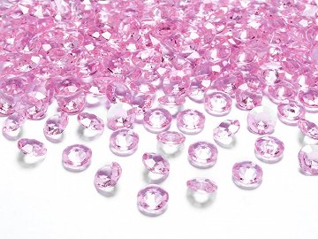 Diamond confetti, light pink, 12mm (1 pkt / 100 pc.)