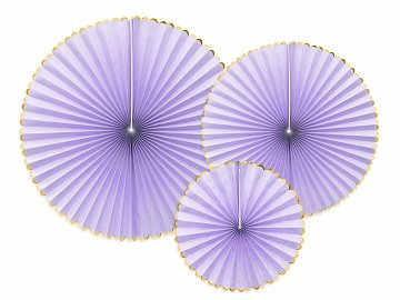 Decorative Rosettes Yummy, light lilac (1 pkt / 3 pc.)