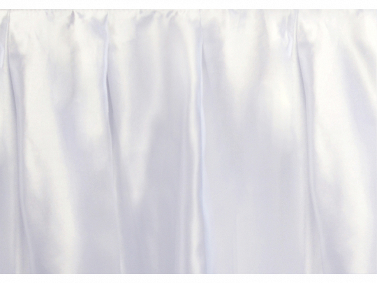 Thin satin skirting, white, 75cm x 4m