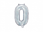 "Foil Balloon Letter ""O"", 35cm, holographic"