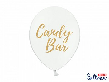 Balony 30cm, Candy Bar, Pastel Pure White (1 op. / 50 szt.)