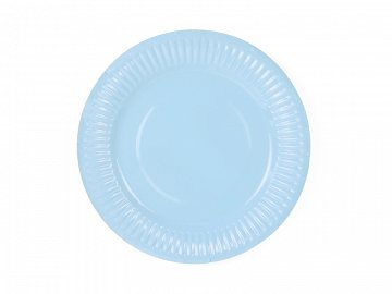 Plates, light sky-blue, 18cm (1 pkt / 6 pc.)