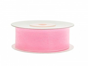 Chiffon Ribbon, light pink, 25mm/25m