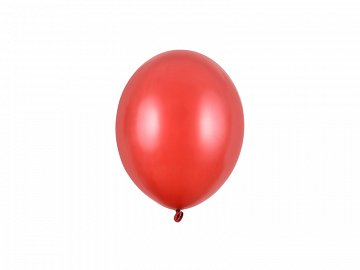 Strong Balloons 12cm, Metallic Poppy Red (1 pkt / 100 pc.)