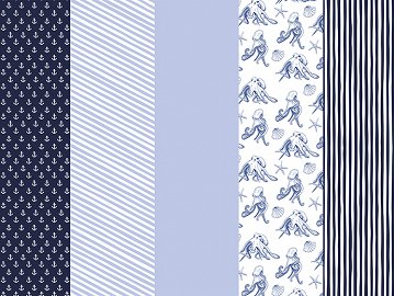 Wrapping paper Ahoy, mix, 68.5x100cm (1 pkt / 50 pc.)