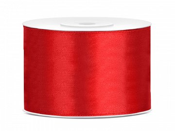 Satin Ribbon, red, 50mm/25m