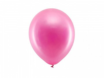 Rainbow Balloons 23cm metallic, fuchsia (1 pkt / 100 pc.)