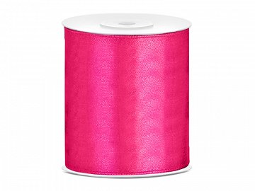 Satin Ribbon, dark pink, 100mm/25m