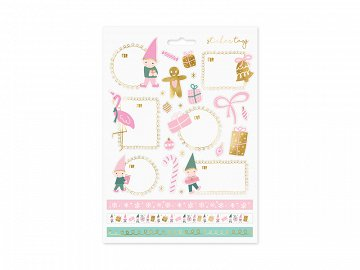 Christmas stickers Gnomes, mix (1 pkt / 10 pc.)