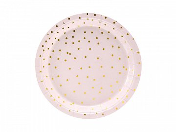 Plates Polka Dots, light pink, 18cm (1 pkt / 6 pc.)