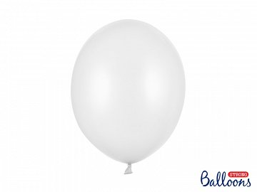 Strong Balloons 30cm, Metallic Pure White (1 pkt / 10 pc.)