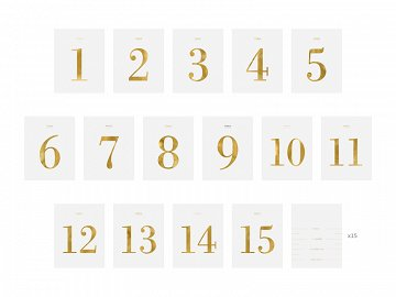 Table numbers - set of labels, 9.5x12cm (1 pkt / 30 pc.)