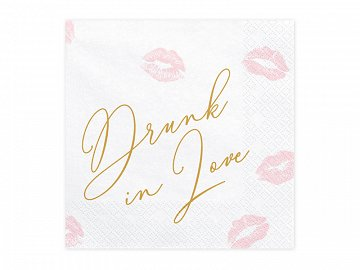 Napkins Drunk in love, 33x33cm  (1 pkt / 20 pc.)