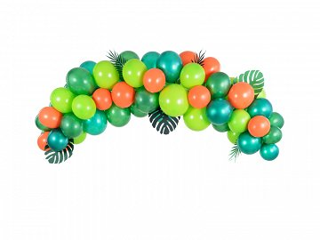 Balloon garland - Dino, 200cm (1 pkt / 60 pc.)