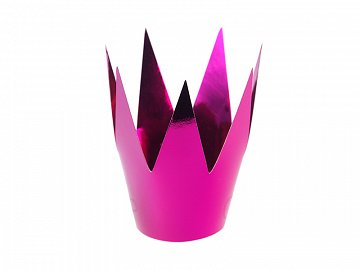 Party crowns, pink, 5.5cm (1 pkt / 3 pc.)