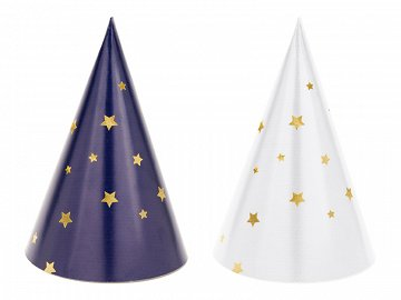 Party hats Let's Celebrate - Stars, mix, 11cm (1 pkt / 6 pc.)