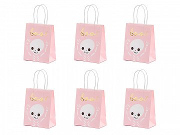 Gift bag Boo, pink, 14x18x8cm (1 pkt / 6 pc.)