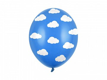 Balloons 30cm, Clouds, Pastel Cornflower Blue (1 pkt / 50 pc.)