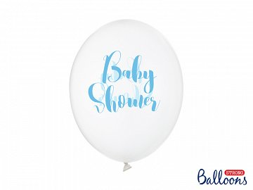 Balloons 30cm, Baby Shower, Crystal Clear (1 pkt / 50 pc.)