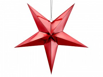 Paper star, 70cm, red