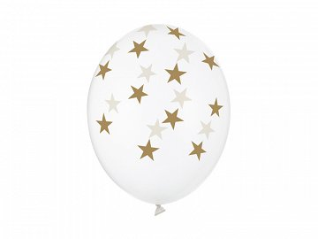 Balloons 30cm, Stars, Crystal Clear (1 pkt / 50 pc.)