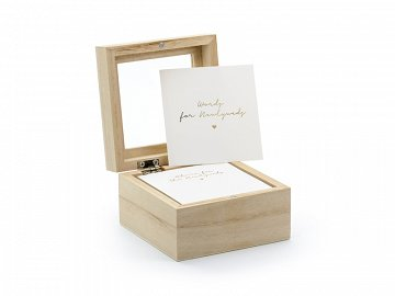 Guest book - wedding advice box, 9.5x9.5x6cm, English language version