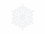 Paper decoration Snowflake, white, 11cm, white (1 ctn / 50 pkt) (1 pkt / 10 pc.)