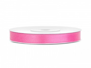 Satin Ribbon, pink, 6mm/25m