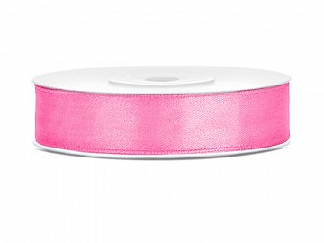 Satin Ribbon, pink, 12mm/25m (1 pc. / 25 lm)