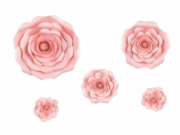 Paper flower backdrop, pink, mix