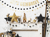 Glittery decorations Star, gold, 5cm (1 pkt / 8 pc.)