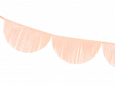 Scalloped fringe garland, light peach, 3m