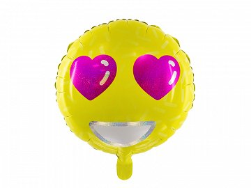 Foil Balloon Emoji - Love, 45cm