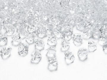 Crystal ice, colourless, 14 x 11mm (1 pkt / 40 pc.)