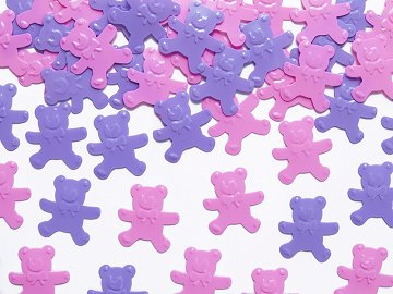 Confetti Bears, pink and violet, 15g