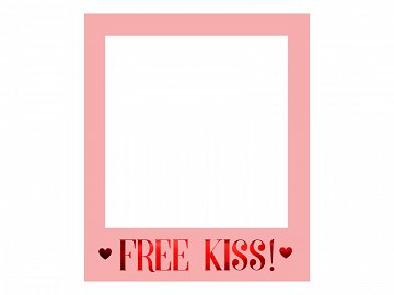 Selfie photo frame Love is in the air, 50x59.5cm