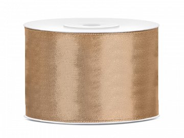 Satin Ribbon, light gold, 50mm/25m