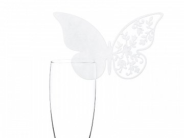 Place cards Butterfly, 12.5 x 7.6cm (1 pkt / 10 pc.)