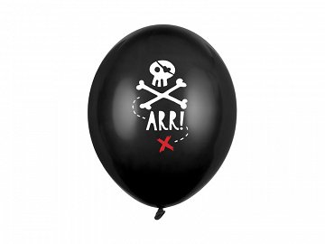 Balloons 30cm, Pirates Party, Pastel Black (1 pkt / 50 pc.)