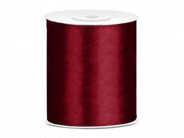 Satin Ribbon, deep red, 100mm/25m