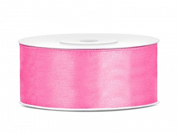 Satin Ribbon, pink, 25mm/25m (1 pc. / 25 lm)