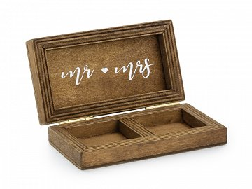 Wooden wedding ring box, 10x5,5cm