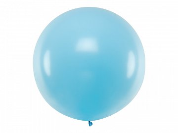 Balon okrągły 1m, Pastel Light Blue