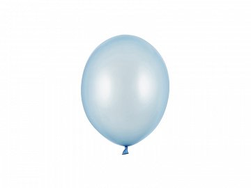Strong Balloons 12cm, Metallic Baby Blue (1 pkt / 100 pc.)