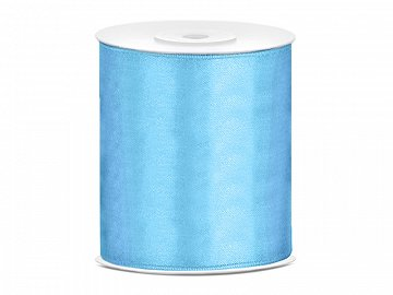 Satin Ribbon, sky-blue, 100mm/25m