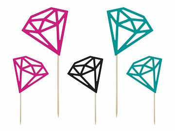 Toppers Diamonds, 12.5-25.5cm (1 pkt / 5 pc.)