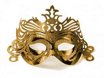Party Mask with ornament, gold