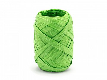 Raffia ribbon, 5mm/10m, green (1 ctn / 80 pc.)