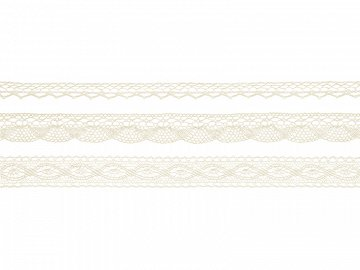 Laces, cream (1 ctn / 32 pkt) (1 pkt / 3 pc.)