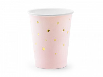 Cups Stars, light pink, 260ml (1 pkt / 6 pc.)